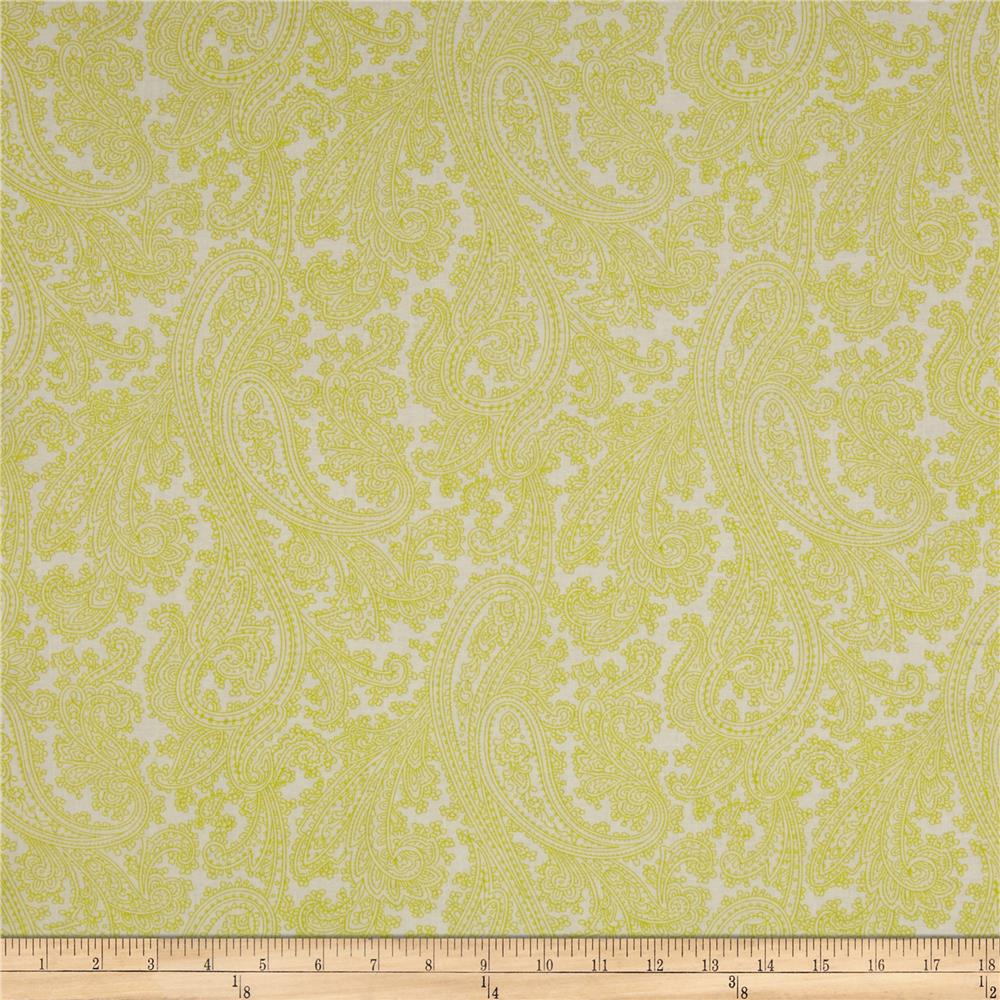 Michael Miller French Journal Posh Paisley Celery