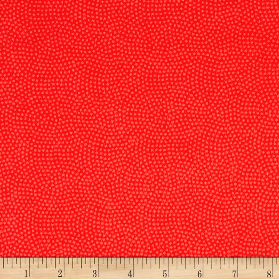 Timeless Treasures Flannel Spin Dot Coral