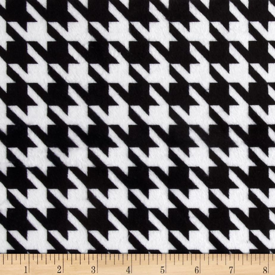 Minky Houndstooth Black/White
