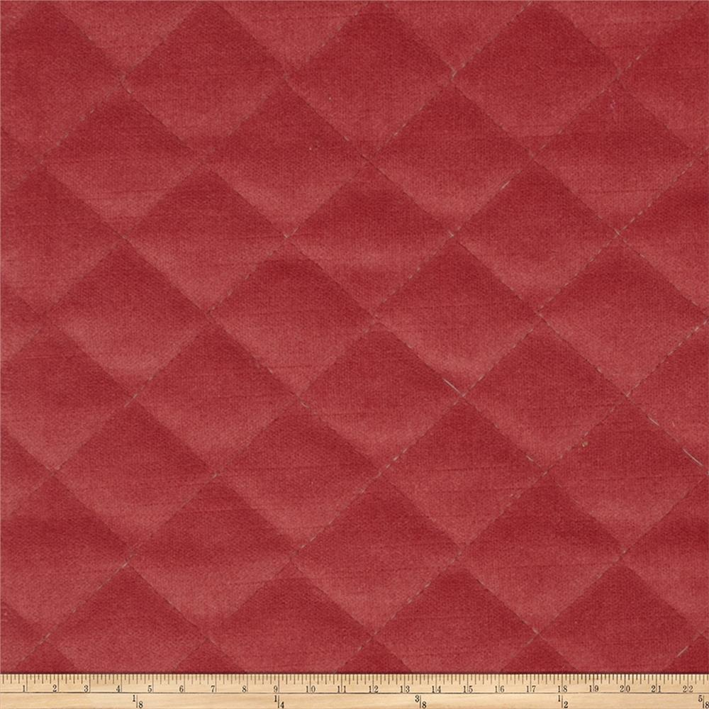 Fabricut Quilted Velvet Strawberry