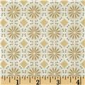 Robert Kaufman Winters Grandeur Metallic Circle Grid Winter