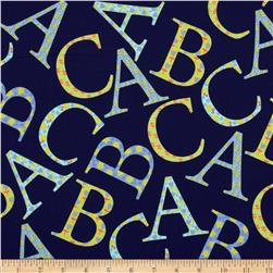 Michael Miller Cynthia Rowley Oh Baby ABC Toss Blue