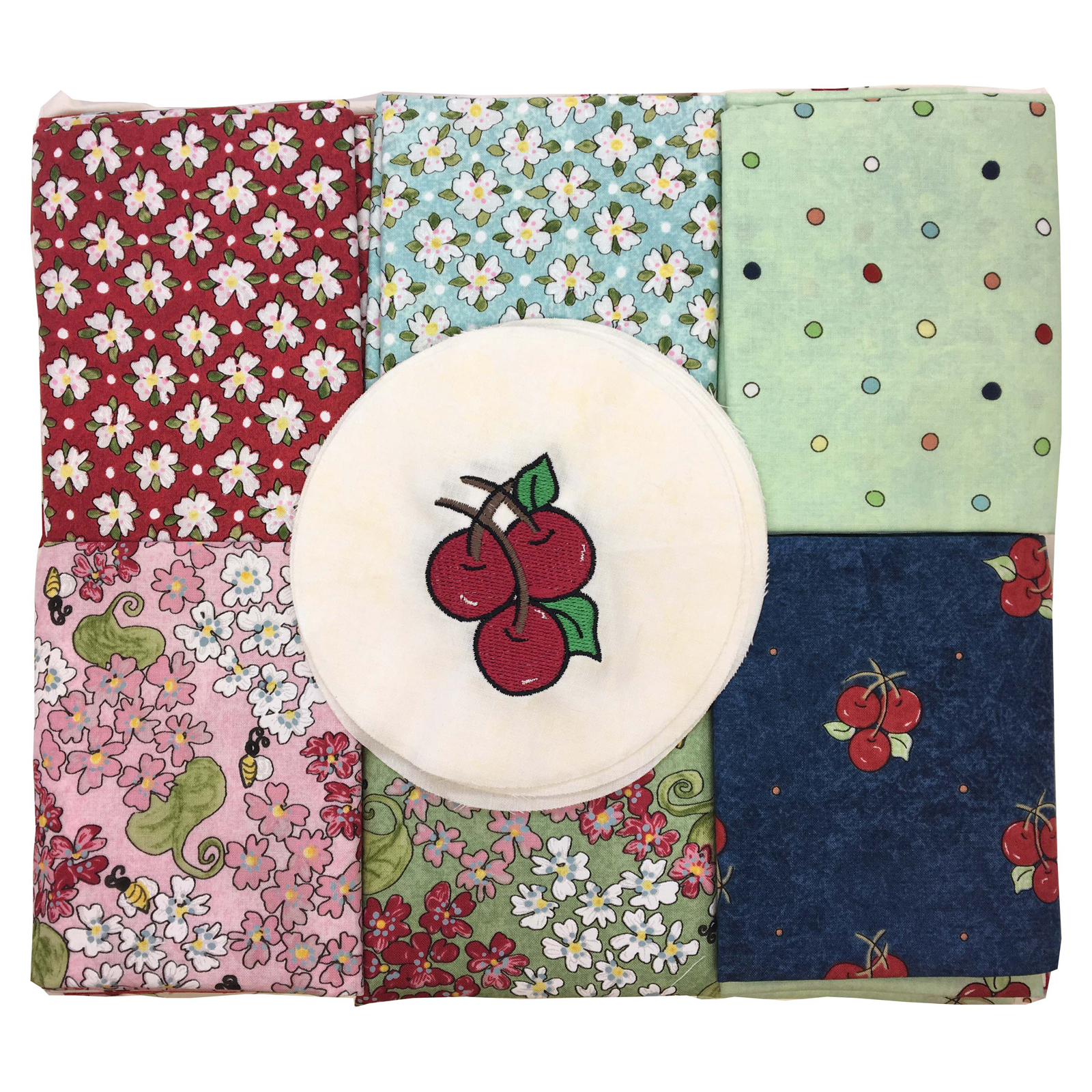 Fabric.com Cherry Jubilee Quilt Kit FQ Multi - Exclusive