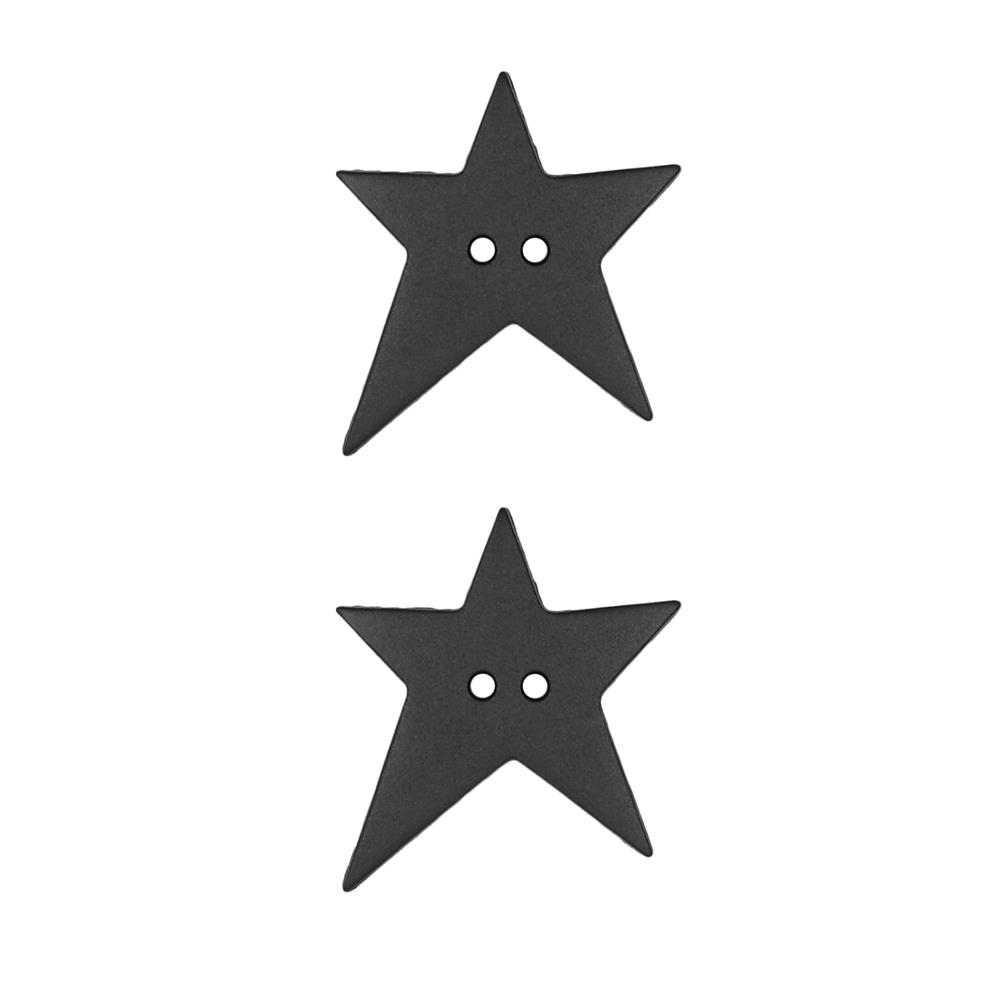 "Dill Novelty Button 1  1/8"" Star Black"