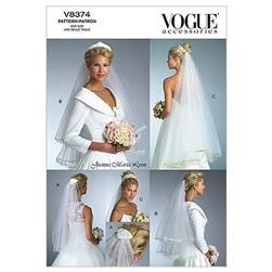 Vogue Bridal Veils Pattern V8374 Size OSZ