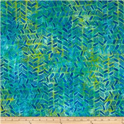 Batavian Batiks Herringbone Fresh Blue/Green