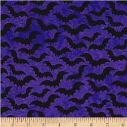 Eat, Drink & Be Scary Bats Purple