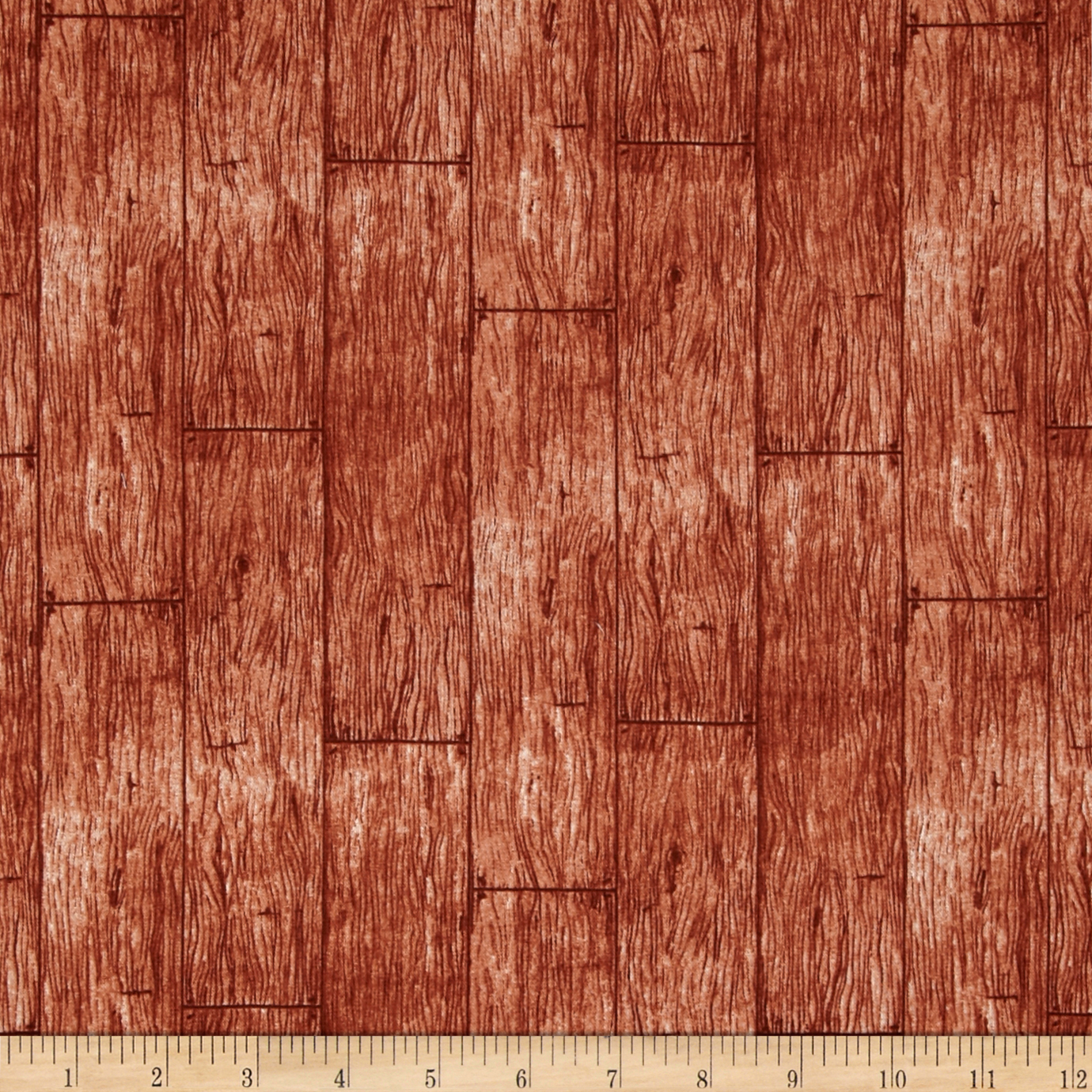 In The Meadow Wood Planks Brown Fabric by Exclusively Quilters in USA