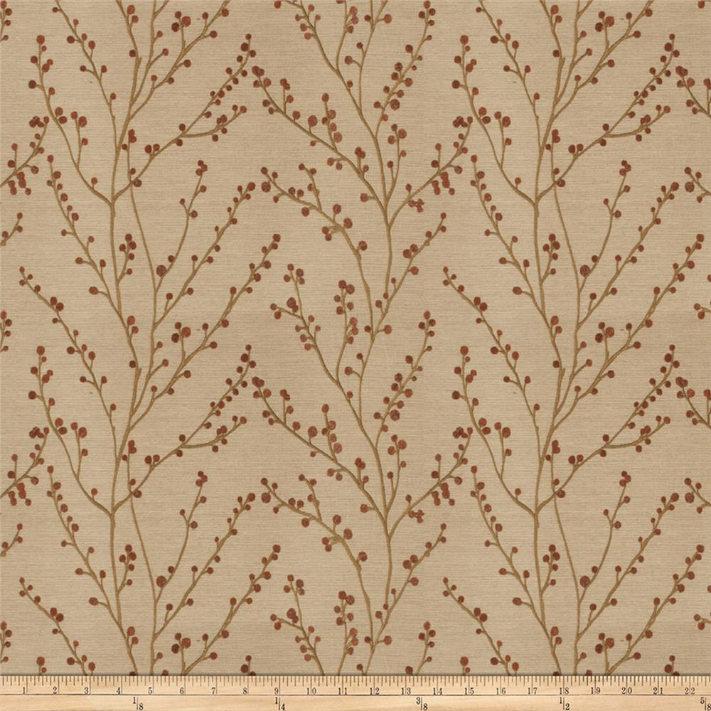 Fabricut Perfecta Embroidered Faux Silk Autumn
