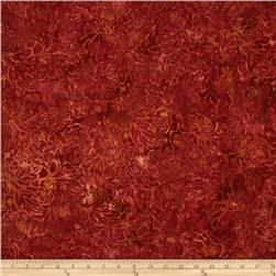 Timeless Treasures Tonga Batik Flora Rust