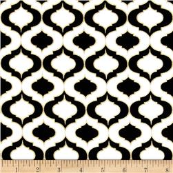 Nightfall Metallic Quatrefoil White