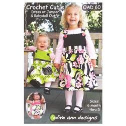 Olive Ann Designs Crochet Cutie Dress, Jumper & Doll Dress Pattern
