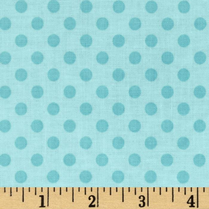 Riley Blake Laminate Small Dots Tone on Tone Aqua