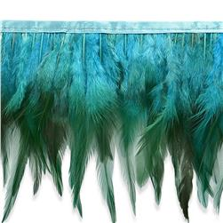 "5 1/2"" Jaylo Feather Trim Turquoise"