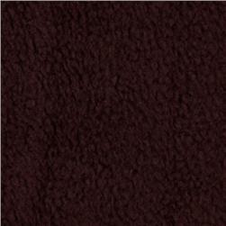 Wintry Fleece Chocolate Brown Fabric
