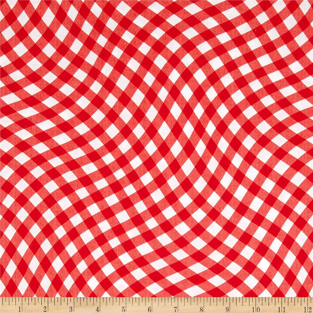 Kanvas Maine Attractions Wavy Gingham Red
