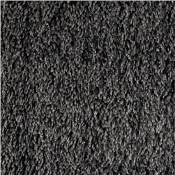 Minky Frosted Shag Cuddle Black/White Fabric