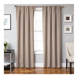 Sunbrella 84'' Solid Rod Pocket Outdoor Panel Antique Beige