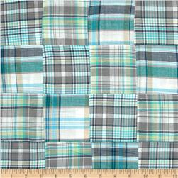 Madras Plaid Teal/Grey/White