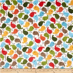 Minky Cuddle Urban Zoologie Chick Cuddle Cherry Fabric