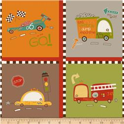 Riley Blake On Our Way Cars Brown Fabric