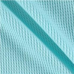 Cotton Thermal Knit Mint Blue