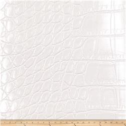 Fabricut Aluminum Faux Leather Pearl