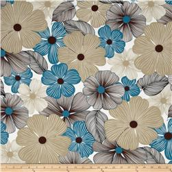 Surf N' Sand Tropicals Bright Floral Sand Fabric