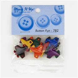 Dress It Up Embellishment Buttons  Airplanes