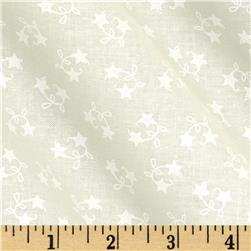 Moda Winter Wonderland Star Vine White on White