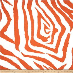 Premier Prints Indoor/Outdoor Zebra Orange