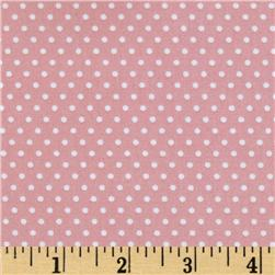 Riley Blake Willow Organic Dot Pink Fabric