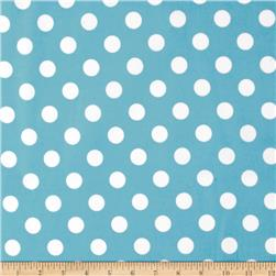 Riley Blake Flannel Basics Dots Medium Aqua Fabric