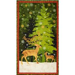 "Peace On Earth Large 24"" Panel Multi"