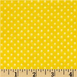 Flannel Mini Dots Tonal Yellow