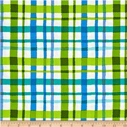 Shadows Paintbox Plaid Green