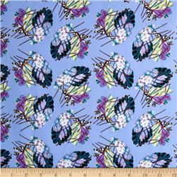 Benedictus Feather Fuchsia Fabric
