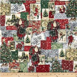 Holiday Shimmer Metallic Postcard Patchwork Silver/Silver