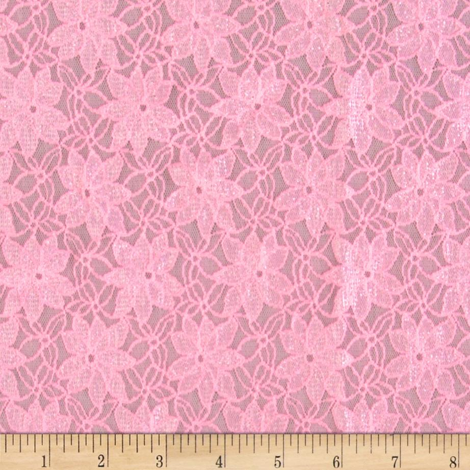 Novelty Lace Floral Pink