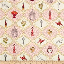Art Gallery Lilly Belle French Sampler Rose Fabric