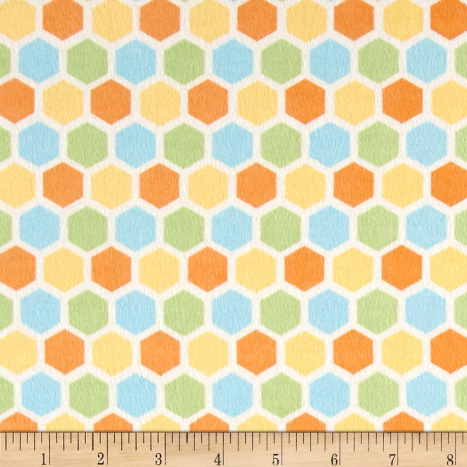 Peek-A-Boo Flannel Hexagon Blue