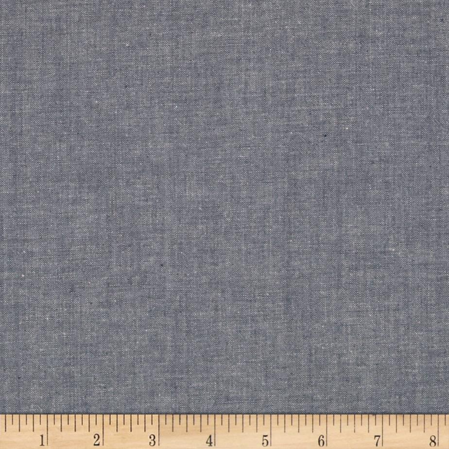 Moda chambray grey discount designer fabric for Chambray fabric