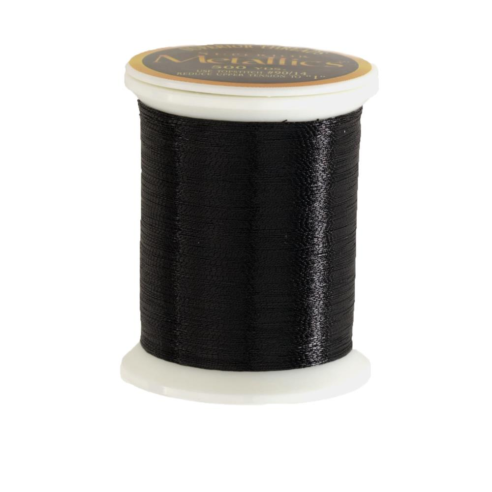 Superior Metallic Thread 500yds Black