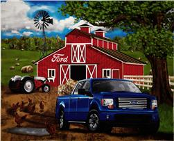 Ford F-150 Farm Scene Panel Brown