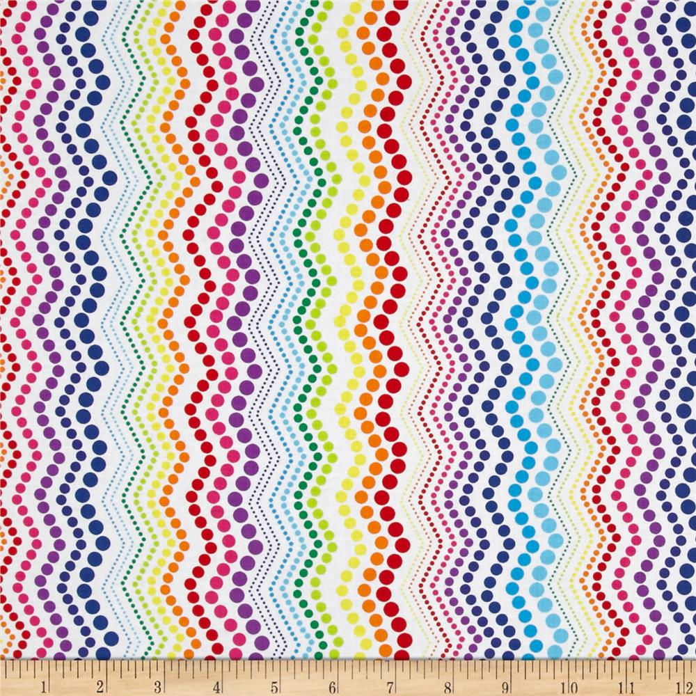 Kanvas Bright Idea Rainbow Zigzag White