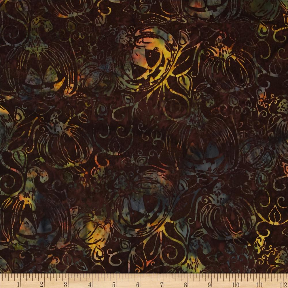 Bali Batiks Jack-O-Lanterns Brown Sugar