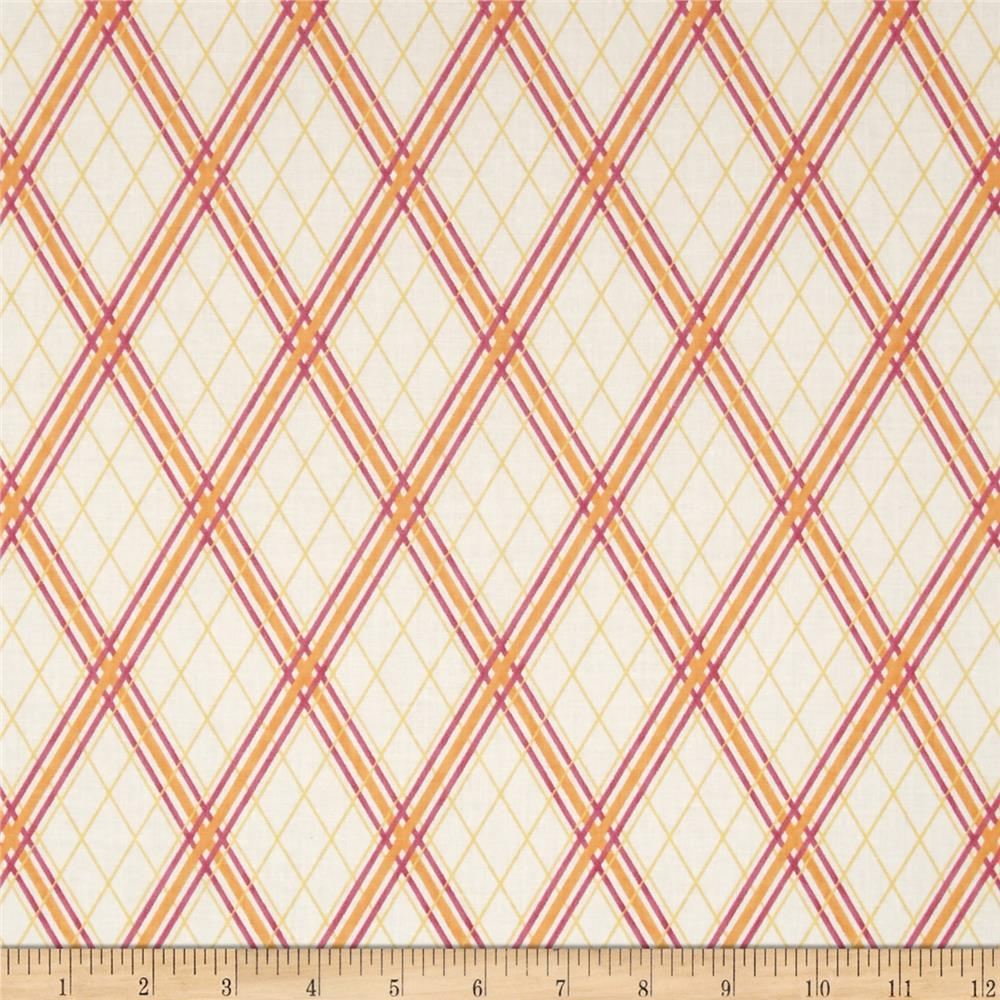 Peaceful Pastimes Diagonal Plaid Pink