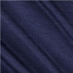 Stretch Rayon Jersey Knit Navy