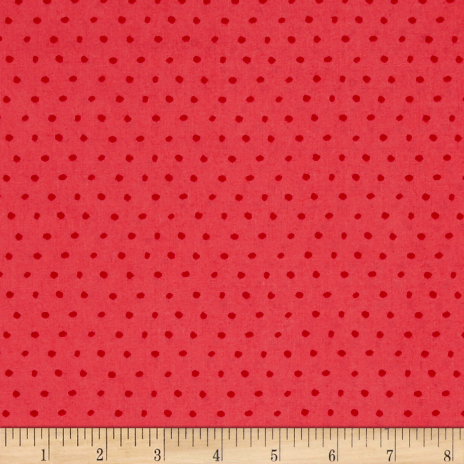 25 Days of Christmas Dot Coral Fabric By The Yard