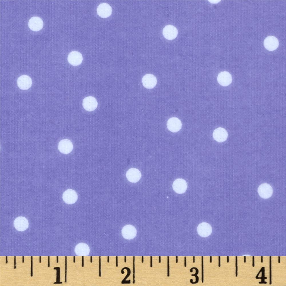Essentials Flannel A Dot is a Dot Purple